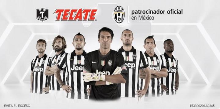 Tecate nuevo patrocinador de la Juventus en México