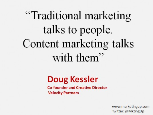 "Doug Keesler ""El marketing tradicional le hablar a la gente…"""