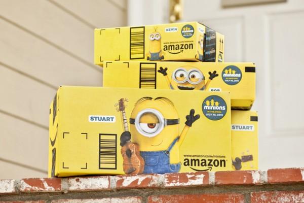Minions en las cajas de Amazon