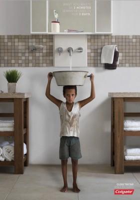 Colgate promueve el ahorro de agua