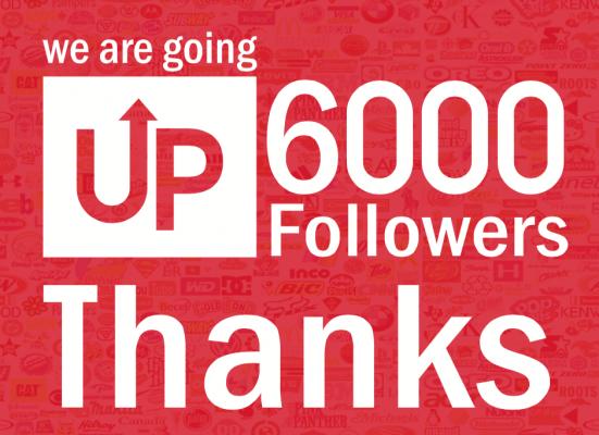 6,000 Seguidores! Gracias