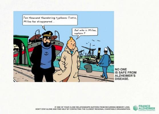 Tintin, Asterix y Lucky Luke contra el Alzheimer