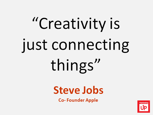"""Steve Jobs """"Creatividad es solo conectar las cosas"""""""