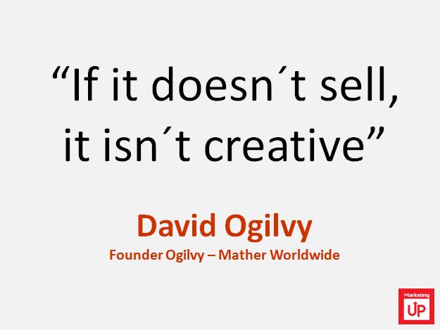 "David Ogilvy ""Si no vende no es creativo"""