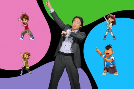 Directivo de Nintendo bailando en su presentación