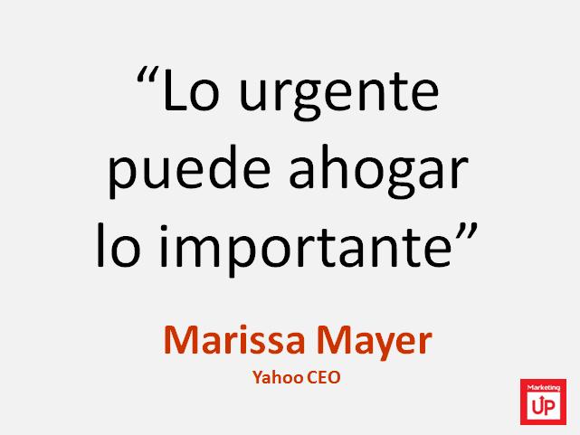"""Marissa Mayer """"Lo urgente puede ahogar lo importante"""""""
