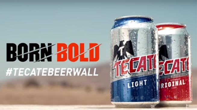 TECATE quiere crear un muro de cerveza entre México y Estados Unidos
