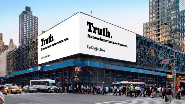 """The Truth is hard"" la atrevida campaña del NY Times."