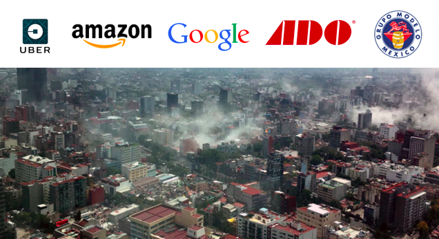 Marcas y Empresas ayudando a afectados por el terremoto en México
