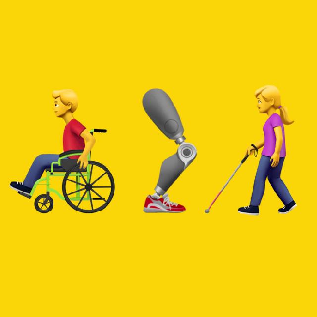 Apple lanza emojis para personas con discapacidad