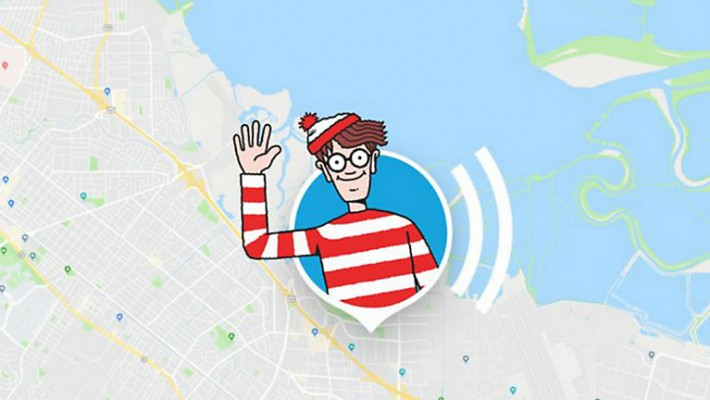 Wally está perdido en Google Maps
