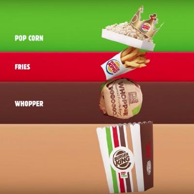 King Pop Corn, la Whopper escondida en un empaque de palomitas que esquiva las reglas de los cines