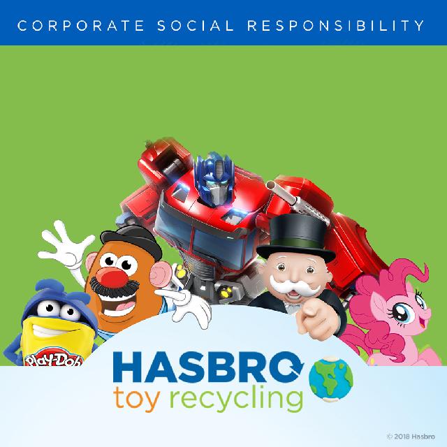 Hasbro promueve el reciclaje de juguetes
