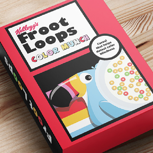 Froot Loops lanza cereal que ayuda a los padres a detectar si su hijo es daltónico