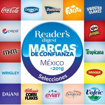 """""""Marcas de confianza 2018"""" Revista Selecciones Reader's Digest México"""