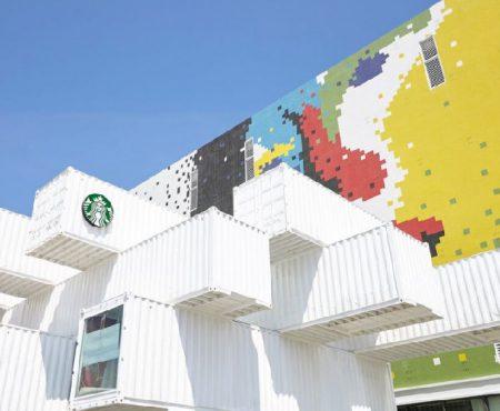 Starbucks abre primera tienda hecha de contenedores en Taiwan