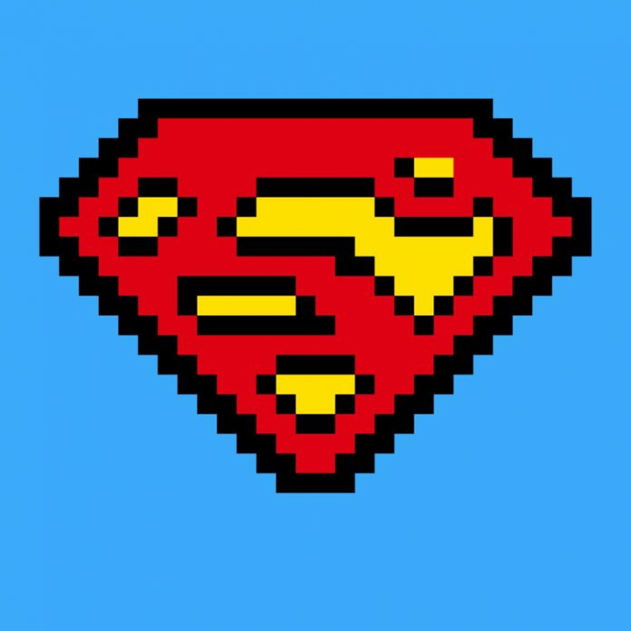 pixel art superman