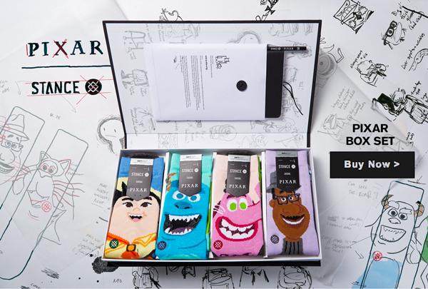 Box Set de calcetines de la colección Pixar Pete Docter